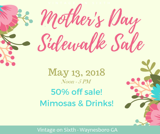 Mother's Day Sidewalk Sale, May 13th 2018 from 2018 at Vintage on Sixth